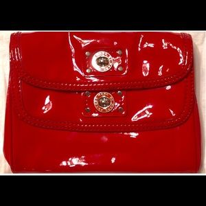 Marc Jacobs red patent leather clutch